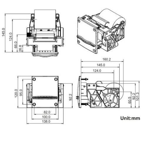 ICT mini thermal printer