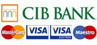 Bankkártyás fizetés a CIB Bank rendszerén keresztül